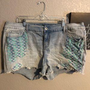 Disney Mermaid Shorts
